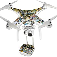 Skin For DJI Phantom 3 Professional – Action Fish Puzzle | MightySkins Protective, Durable, and Unique Vinyl Decal wrap cover | Easy To Apply, Remove, and Change Styles | Made in the USA