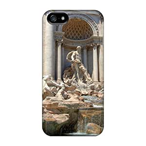 Durable Trevi Fountain In Rome Back Cases/covers For Iphone 5/5s