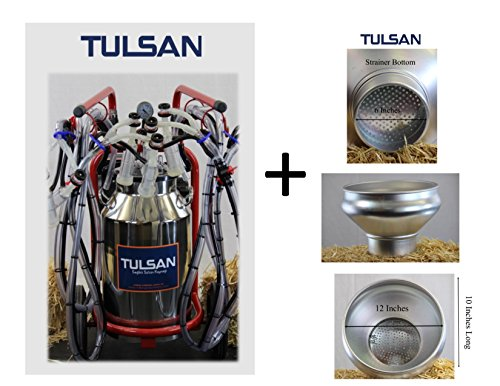 Classic Goat - Tulsan, Classic Goat Quadruple Milking Machine, Portable Electric Milking System Complete w/wheels for Small and Medium Dairy Farms. 4 Complete Cup Sets to Milk 4 Goats That is up to 24 Goats in 1 hr