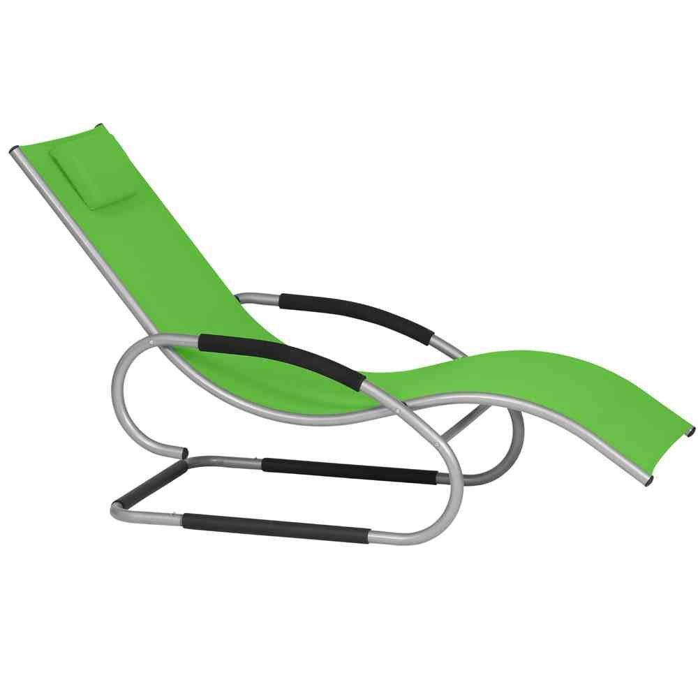 Siena Garden 268139 Swingliege Adria Aluminium-Gestell silber Ranotex®-Gewebe 2*1 limette Armlehnen gepolstert, mit Kopfteil