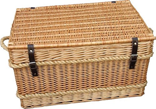 Rope Handled Trunk 73cm Empty Picnic Basket