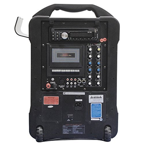 Cassette System Wireless Pa (HamiltonBuhl Wireless PA System - CD, Cassette, MP3, Rechargeable)