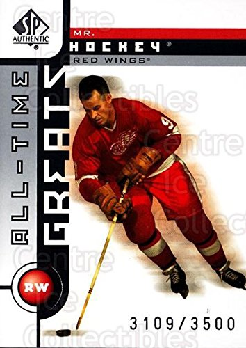 02 Sp Authentic Hockey Card - (CI) Gordie Howe Hockey Card 2001-02 SP Authentic (base) 99 Gordie Howe