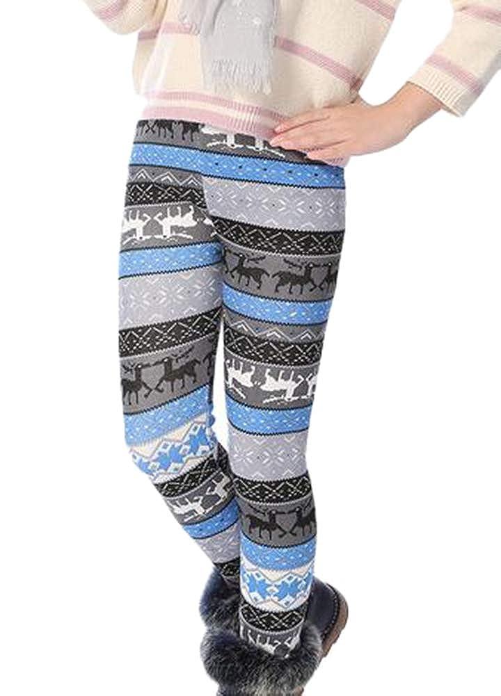 SMITHROAD Mä dchen Leggings Weihnachten Muster Blickdicht Kinder Hosen Leggins Hose Elastische Leggings