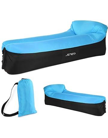 JSVER Sofa Hinchable del Aire del Ocioso de con el Paquete Portable para Viajar, Acampar