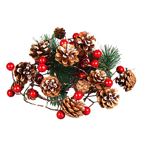 MomeWooden Led String 1PC Christmas Tree Strings Lights Fairy Pine Cone LED Garland Xmas Party Home Decors Holiday Party Wedding Anniversary (Multicolor)