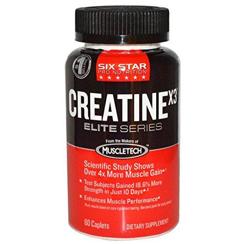 Muscletech, Six Star Pro Nutrition, Creatine X3, Elite Series, 60 Caplets - 2pc