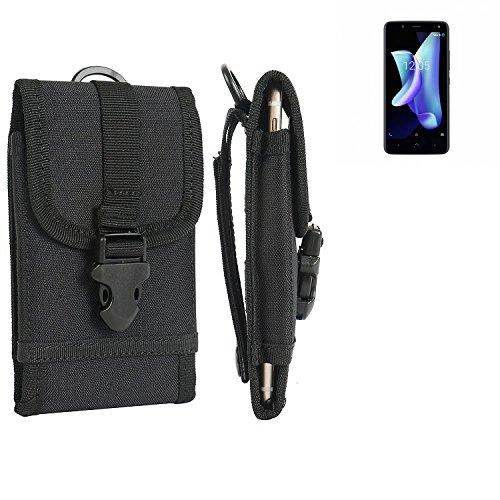 bolsa del cinturón / funda para BQ Aquaris U2, negro | caja del teléfono cubierta protectora bolso - K-S-Trade (TM)