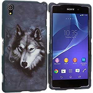 Accessory Planet(TM) Wolf 2D Hard Snap-On Design Rubberized Case Cover Accessory for Sony Xperia Z2