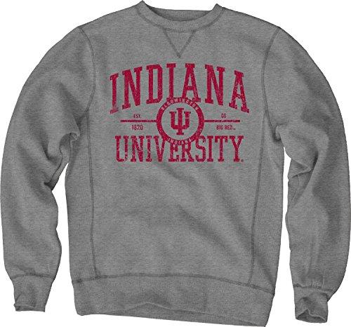 Metal Indiana Hoosiers (NCAA Indiana Hoosiers Sanded Fleece Crew Neck, Gunmetal, X-Large)