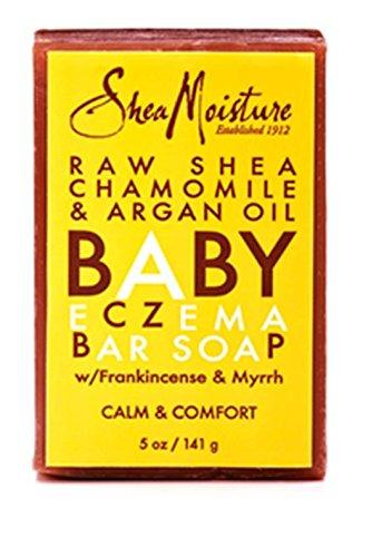 Shea Moisture Organic Raw Shea camomille et l'huile d'argan bébé eczéma Savon - 5 oz