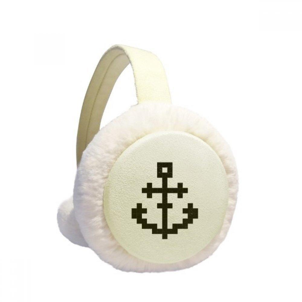 Summer Sail Sailors Ship Pixel Winter Earmuffs Ear Warmers Faux Fur Foldable Plush Outdoor Gift