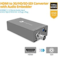 gofanco Prophecy HDMI to SDI Converter with Embedded Audio – 1080p @60Hz, 3G/HD/SD-SDI Auto Format Detection, Embedded Stereo Audio (PRO-HDSDIaud)