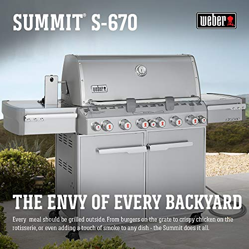 (Weber Summit 7470001 S-670 Stainless-Steel 769-Square-Inch 60,800-BTU Natural-Gas Grill)