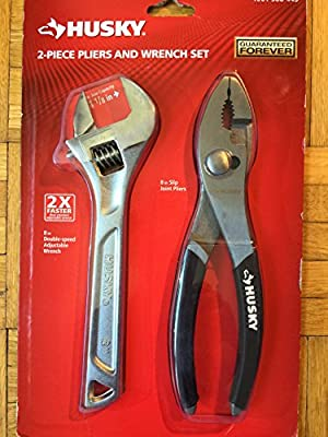 "HUSKY 8"" Slip Joint Pliers and 8"" Wrench SET"