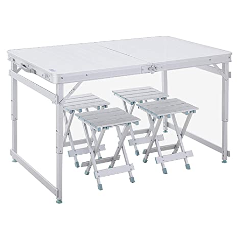 Mesa y sillas plegables para exteriores de aleación de ...