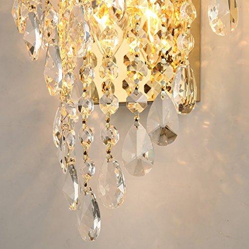 MOMO Luxury K9 Crystal Wall Lamp Led Gold Living Room Bedroom Bedside Dining Room Wall Lamp European Lighting by MOMO (Image #5)