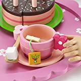 18 Inch Doll Wooden Tea Set (28 Pieces) for Little