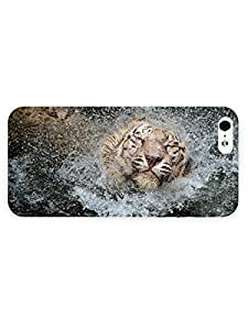 3d Full Wrap Case For Ipod Touch 4 Cover Animal Bathing Tiger