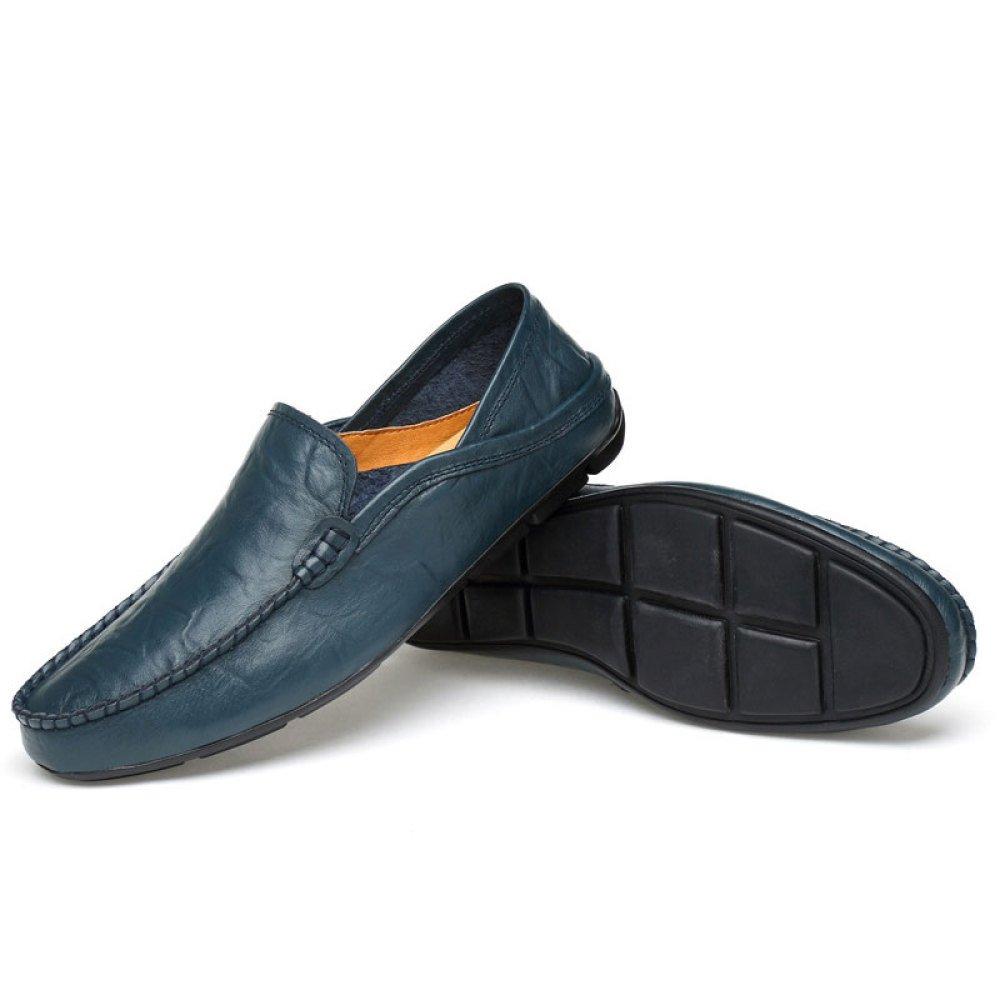 Männer Rutschfest Freizeitschuhe Atmungsaktiv Blau Faule Schuhe Erbsenschuhe Fahrschuhe Blau Atmungsaktiv 21d548