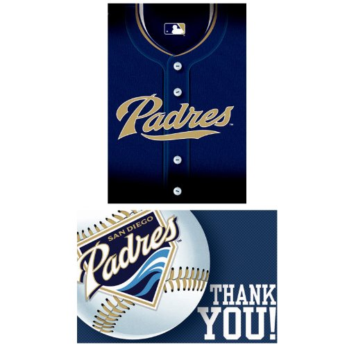 San Diego Padres Baseball - Invite & Thank-You Combo Party Accessory