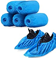 Disposable Shoe Cover, 50 PCS Disposable Non-Woven Fabrics Shoe Cover, Thickened Waterproof Indoor Non-Skid Du