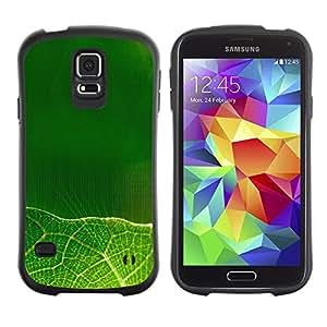 Suave TPU GEL Carcasa Funda Silicona Blando Estuche Caso de protección (para) Samsung Galaxy S5 / CECELL Phone case / / Green leaves /