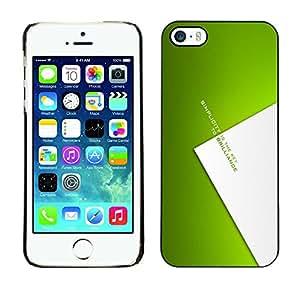 LECELL--Funda protectora / Cubierta / Piel For iPhone 5 / 5S -- Simplicidad clave para brillianoe --
