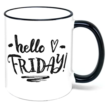 Amazon.com | Hello Friday Coffee Mug: Coffee Cups & Mugs #coffeeFriday
