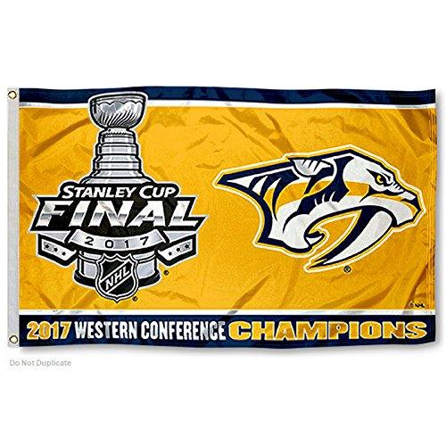 NHL Nashville Predators 2017 Western Conference Champions Flag