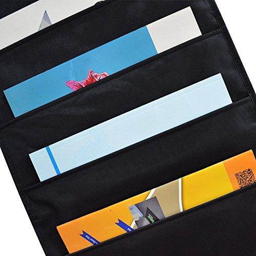 godery premium hanging file folder organizer 10 pockets 3 hangers cascading. Black Bedroom Furniture Sets. Home Design Ideas
