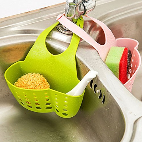 GreenSun(TM) Cute Kawaii Kitchen Portable Hanging Drain Bag Drain shelf Basket Bath Storage Gadget Tools Sink Holder For kitchen