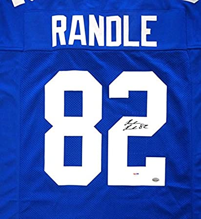 NEW YORK GIANTS RUEBEN RANDLE AUTOGRAPHED BLUE JERSEY PSA DNA STOCK  81766 47ab7256d