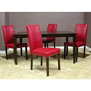 Warehouse of Tiffany Red Dining Room Set (Set of 5)