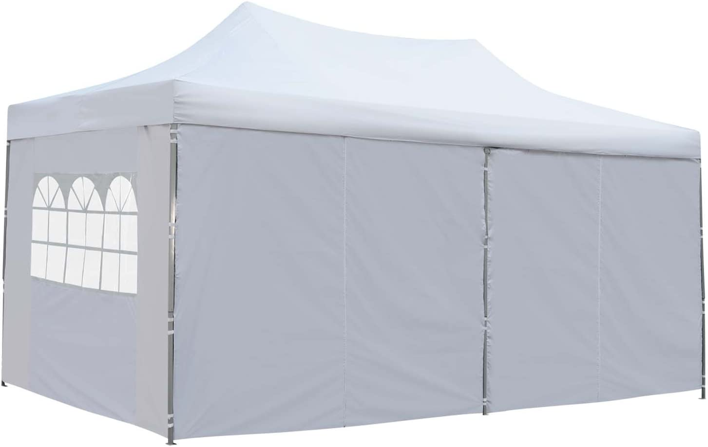 Outdoor Basic 10x20 Ft Pop up Canopy Party Wedding Gazebo Tent Shelter with Removable Side Walls Red