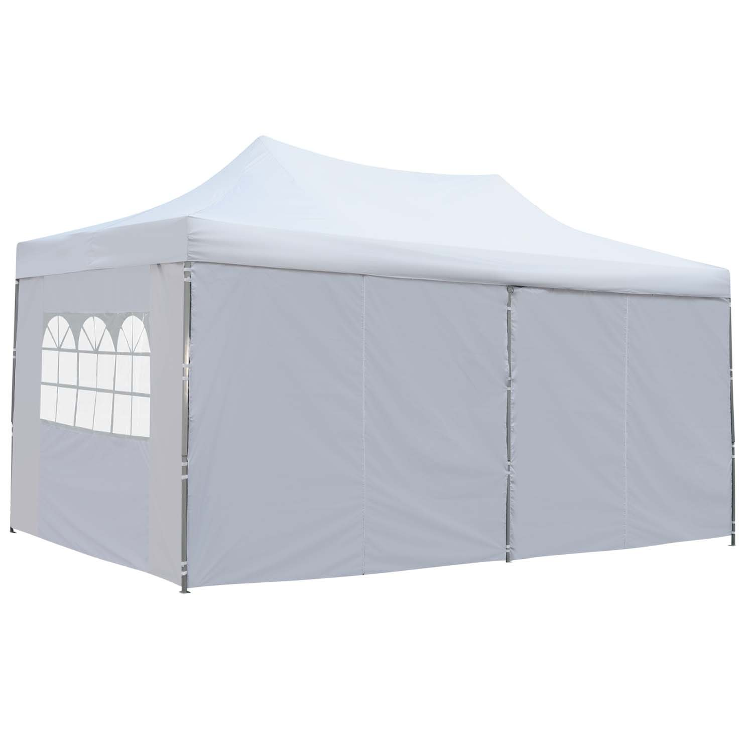 Outdoor Basic 10x20 Ft Pop up Canopy Party Wedding Gazebo Tent Shelter with Removable Side Walls White by Outdoor Basic (Image #3)