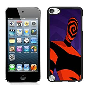Nice Designed Phone Case With Spiral Face Cover Case For iPod Touch 5th Black Phone Case CR-591