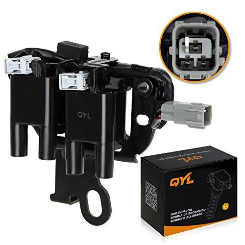 QYL Ignition Coil Pack for Hyundai Elantra Tiburon Tucson Kia Spectra Sportage L4 2.0L UF419 (Kia Spectra Coil)