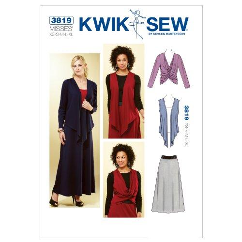 Kwik Sew K3819 Skirt Sewing Pattern, Jacket and Vest