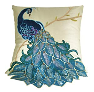 Fancy Decorative Pillows For Couch : Amazon.com: New Fashion Fancy Vivid Peacock Decorative Throw Pillow Case Cushion Cover Sham ...