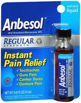 Anbesol Liquid Regular Strength Cool Mint 0.41 oz (Pack of 4)