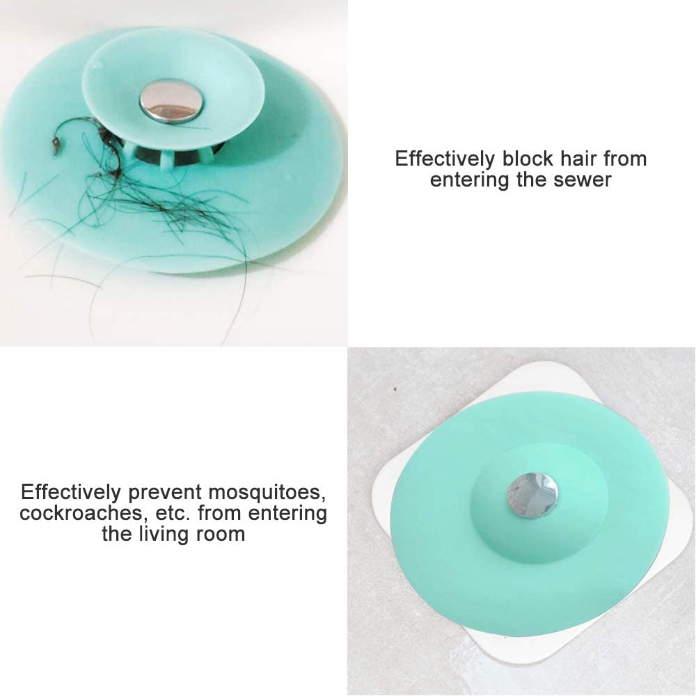2pcs Anti-Clogging Rubber Plug Suction Stopper with Extension Hose for Home Kitchen Laundry Bathroom Gobesty Bathtub Drain Stopper