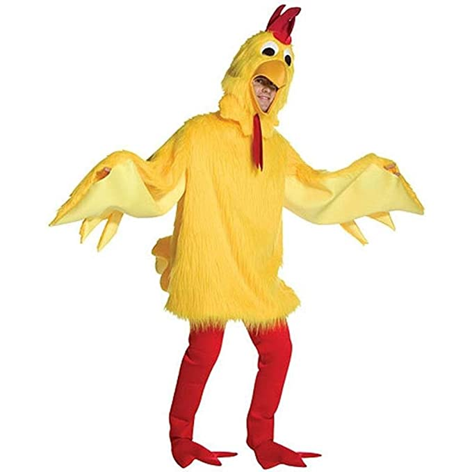 Amazon.com  Fuzzy Chicken Costume Costume - One Size - Chest Size 48-52   Clothing 39ae6c91412