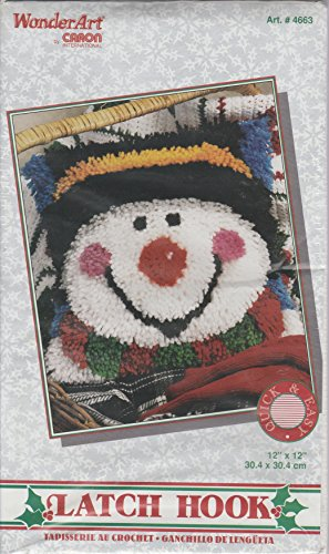 WonderArt by Caron - Latch Hook Kit - 4663 Snowy Snowman by Wonder Art