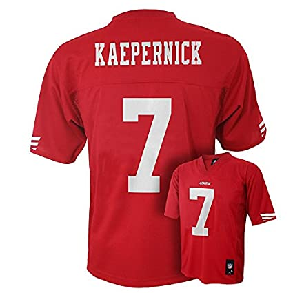 4b43f36f5 Outerstuff Colin Kaepernick San Francisco 49ers  7 NFL Youth Mid-Tier Jersey  Red (