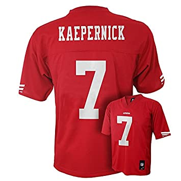 newest ad0ba 6ca93 Outerstuff Colin Kaepernick San Francisco 49ers #7 NFL Youth Mid-Tier  Jersey Red