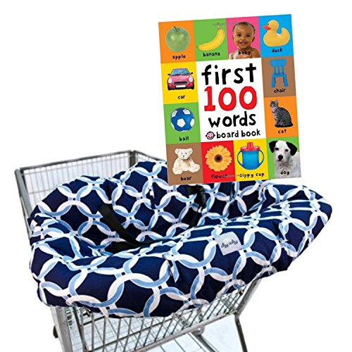 maven-gifts-itzy-ritzy-shopping-cart-and-high-chair-cover-social-circle-blue-with-first-100-words
