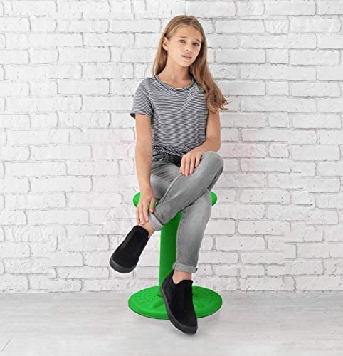 """Active Kids Chair By Studico – Wobble Chairs Juniors/Pre-Teens (Grades 3-7) - Flexible Seating Classroom- Children Who Can't Sit Still - 17.75"""" Wobble Chair - Corrects Posture 