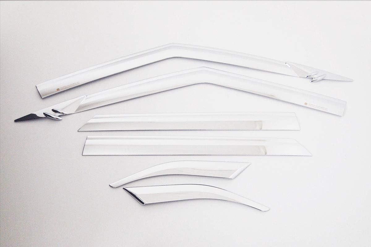 Chrome Side Window Deflectors 6p for 2020 Hyundai Venue