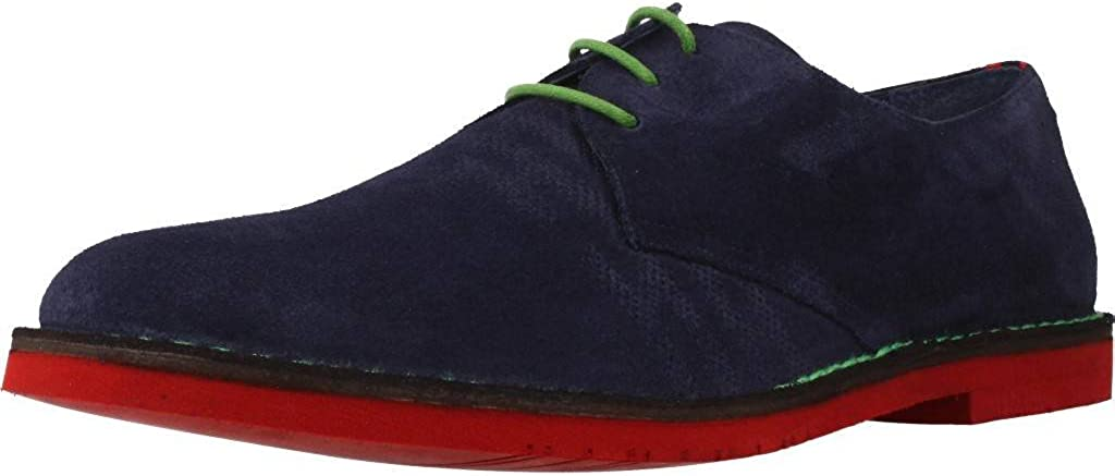 TALLA 45 EU. Zapatos de Cordones para Hombre, Color Azul, Marca ANGEL INFANTES, Modelo Zapatos De Cordones para Hombre ANGEL INFANTES 57016A Azul